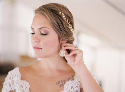 Colorado bride with makeup and bridal hairstyle by Beauty on Location Studio of Denver
