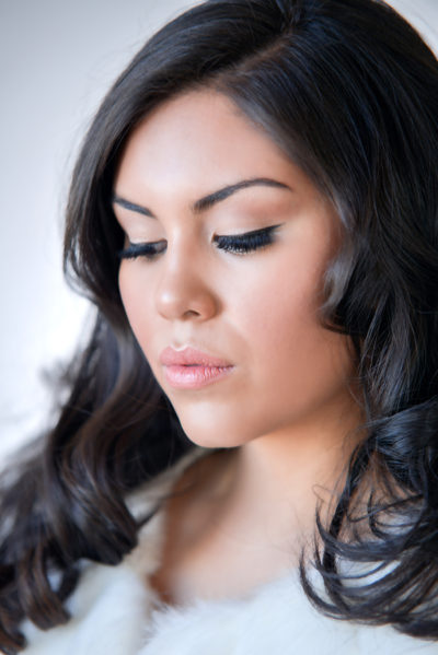 Latina bride with hair and makeup by Beauty on Location Studio of Denver, Colorado