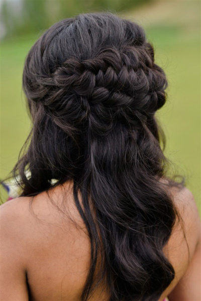 Colorado bride with bridal hairstyle by Beauty on Location Studio of Denver