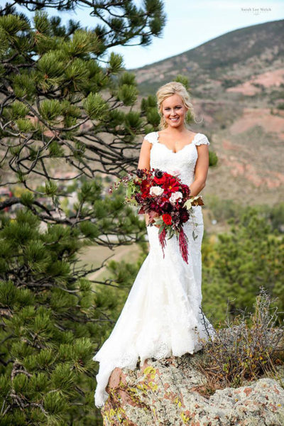 Colorado bride with makeup and updo bridal hairstyle by Beauty on Location Studio of Denver