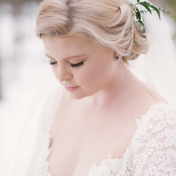 Colorado bride with soft bridal updo by Beauty on Location Studio